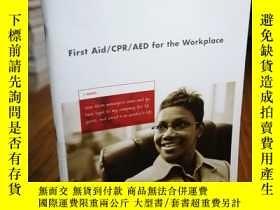 二手書博民逛書店First罕見Aid CPR?AED for the Workp