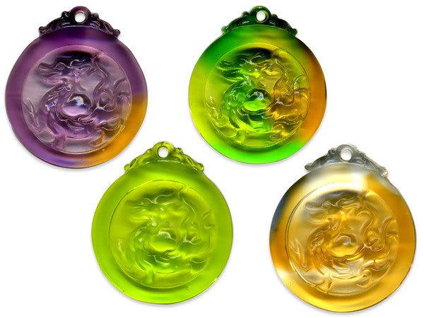 鹿港窯~居家開運水晶琉璃項鍊~五靈-青龍◆附精美包裝◆免運費送到家