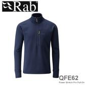 【速捷戶外】英國 Rab QFE62 POLARTEC 男彈性保暖排汗衣(深墨藍)53831, 登山,賞雪,保暖,旅遊,QFE-62