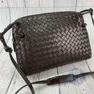 BRAND楓月 Bottega Veneta BV 咖啡色 深棕色 經典編織 斜背包 側背包
