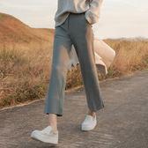 西裝褲 高腰西裝褲女黑色寬鬆九分褲直筒休閒煙管褲韓版垂感闊腿褲 唯伊時尚