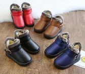 男童靴子女童雪地靴冬季加絨兒童冬季鞋小孩寶寶防水短靴    傑克型男館