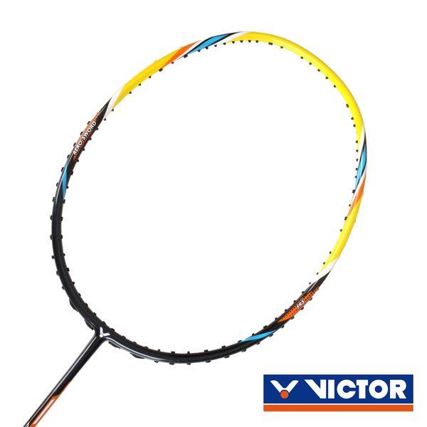 VICTOR 極速球拍-4U-勝利 羽毛球拍 羽球拍 黃黑橘 F
