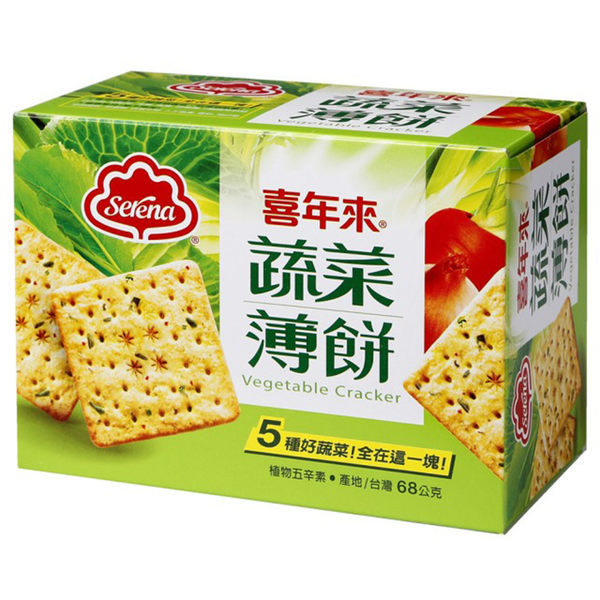 【喜年來】蔬菜薄餅隨手包(68g)