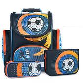 Tiger Family英倫超輕量護脊書包+文具袋+鉛筆盒-魔力足球