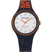 【台南 時代鐘錶 Superdry極度乾燥】美式和風 文化衝擊潮流腕錶 SYG227U 矽膠帶 43mm