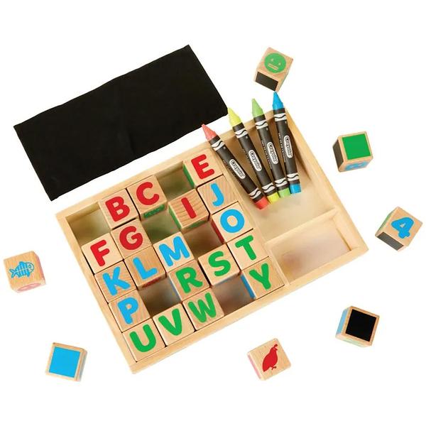 【愛吾兒】繪兒樂 Crayola 早教創意啟蒙4合1正方體學習積木塊