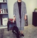 正韓 韓國 似 高品質 長版 條紋 西裝 外套   FHM CUXI 整套 西裝