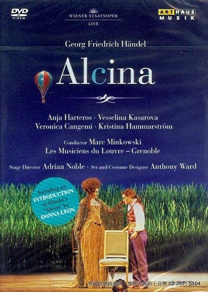 【正版全新DVD清倉 4.5折】【ArtHaus】Handel : Alcina 韓德爾 : 阿琪娜(明考斯基)(2DVDs)