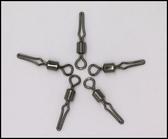 美式子線夾 八字環連接器連接環快速換子線垂釣小配件