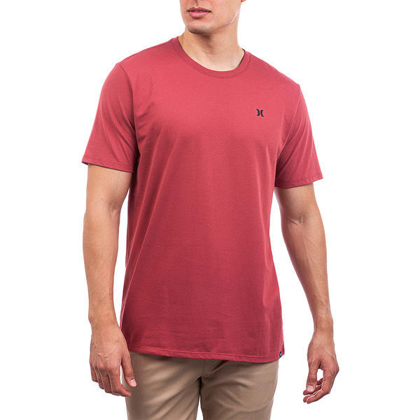 Hurley M DF STAPLE ICON REFLECTIVE SS CEDAR T恤-(紅)
