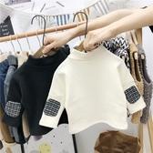 兒童加絨半高領發熱打底衫童裝秋冬裝男童童小寶寶洋氣長袖T恤-ifashion