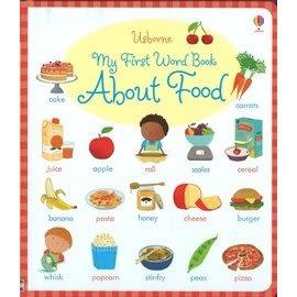 【食物幼兒字典】 USBORNE: MY FIRST WORD BOOK ABOUT FOOD /硬頁書《主題:字典.食物》