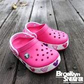 Crocs  粉紅 桃紅 米妮 底部閃燈 涼鞋 童鞋 (布魯克林) 2017/11月 2049946X0