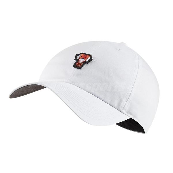 Nike 帽子 Tiger Woods Heritage 86 Frank 白 高爾夫球帽 老虎伍茲 遮陽【ACS】 BQ1309-100