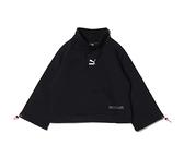 PUMA INTERSTELLAR 女性微高領寬版長袖黑色上衣- NO. 53029901