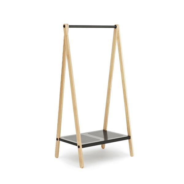 丹麥 Normann Copenhagen Toj Clothes Rack in Small 鞦韆 立式衣架 小尺寸(深灰色 / 原木框架)