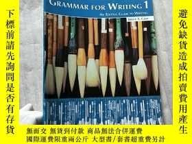 二手書博民逛書店GRAMMAR罕見FOR WRITING 1 AN EDITING GUIDE TO WRITING 大16開【內