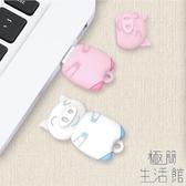 隨身碟可愛小豬卡通小巧迷你電腦車載兩用【極簡生活】