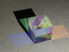 立方體稜鏡 合色稜鏡 光立方 物理光學實驗道具 分光棱鏡