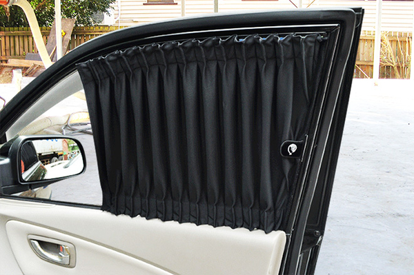 carlife美背式汽車窗簾(休旅車/小箱車用)--奈米抑菌【6窗 側前+側後+側尾】北中南皆可安裝須安裝費