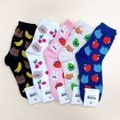 韓國襪子 動物水果樂 女襪 長襪 休閒襪 青蛙 蘋果 兔兔 香蕉 櫻桃