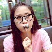 現貨-韓國ulzzang原宿高品質復古眼鏡框原宿復古透明眼鏡透明鏡框金屬鉚釘可配近視圓臉男+女眼