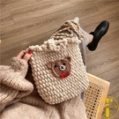 手工編織包diy材料包手織毛線自制小熊斜挎編織女包【雲木雜貨】