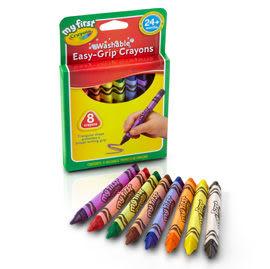 【佳兒園婦幼館】繪兒樂Crayola 幼兒可水洗三角蠟筆8色