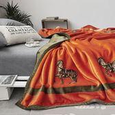 聖誕預熱  【雙層輕奢】高品質云毯北歐毛毯法蘭絨珊瑚絨毯子加厚秋冬休閒毯 挪威森林
