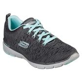 SKECHERS (女)休閒系列 FLEX APPEAL 3.0 (灰綠) 慢跑鞋  13062CCLB【胖媛的店】