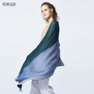 【ST.MALO】秘魯原裝引領趨勢羊駝四色披肩-1995WS-墨綠色