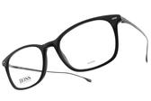 HUGO BOSS 光學眼鏡 HB1015 807 (黑) 鈦 LOGO膠框 # 金橘眼鏡