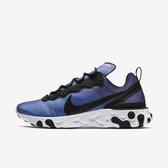 Nike React Element 55 PRM SU19 [BQ9241-002] 男鞋 輕量 透氣 避震 黑藍