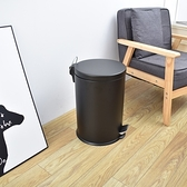 20公升腳踏靜音緩降不銹鋼垃圾桶20公升黑色