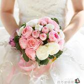 韓式婚慶新娘仿真花手工定制婚禮用品裝飾道具結婚手捧花婚禮花束 魔方數碼館