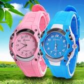 兒童手錶 指針式男孩電子錶防水防摔中小學生手錶女小孩手錶石英錶 快速出貨