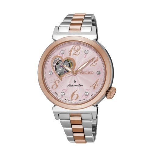 SEIKO LUKIA 時尚品味機械女腕錶/玫瑰金/4R38-01C0KS(SSA846J1)