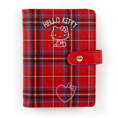 小花花日本精品HelloKitty坐姿側姿紅色格紋2021年行事曆手帳記帳本筆記本記事本62056007
