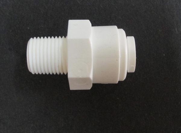 水電接頭.淨水器接頭.塑膠快速接頭ZQ1042,2分管1分牙接頭,15元1個