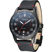Victorinox 維氏 Airboss Black Edition 自動上鏈機械三針腕錶 VISA-241720