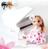 ☆Deluxe☆經典完美~日本機芯發條式木質烤漆音樂盒(白色鋼琴)