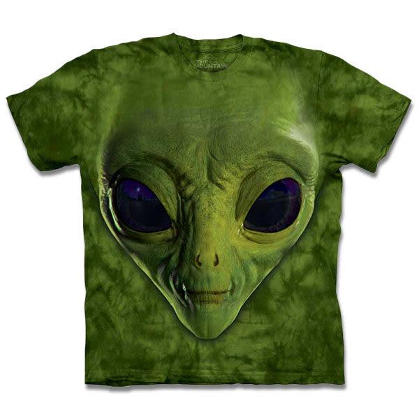【摩達客】 (預購) 美國進口【The Mountain】自然純棉系列 綠ET臉 T恤(10413045174a)