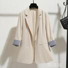 西裝外套 秋裝新款韓版休閒寬鬆英倫風氣質黑色小西裝外套女士薄款西服上衣 韓菲兒
