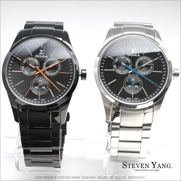 時尚手錶SIGMA時尚名流手錶 三眼功能計時錶 經典款 都會型男錶 單個價格