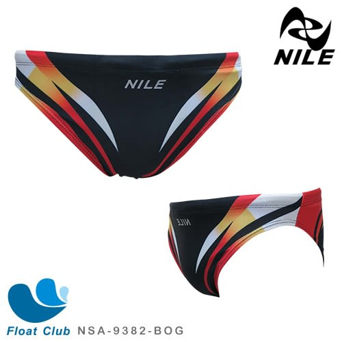 【NILE】男款流線競泳低腰三角泳褲 NSA-9382-BOG