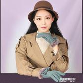 手套手套女士秋冬節毛口加絨加厚棉保暖麂皮絨觸屏韓版騎行開車防滑  凱斯盾數位3C