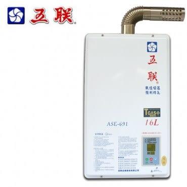 【五聯】屋內適用 強制排氣型 13L FE型(ASE-693)-天然瓦斯