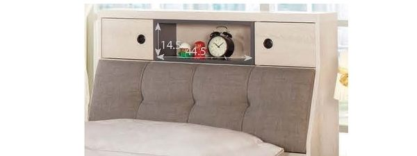【森可家居】優娜3.5尺被櫥頭 7CM063-2 單人置物床頭箱