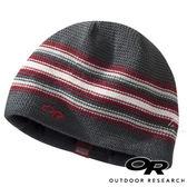 【OR 美國】Outdoor Research 兒童防風保暖羊毛帽『碳灰/紅條紋』243626 登山.露營.休閒